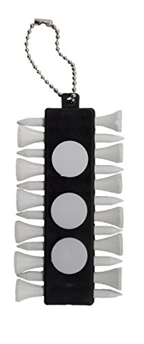 (ProActive Sports Golf Tee Holder with Ball Markers and 12 Tee )