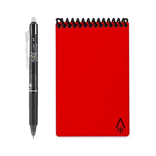 Red Mini Pen - Rocketbook Everlast Mini Smart Reusable Notebook, Atomic Red, 3.5
