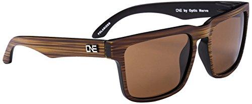 One by Optic Nerve Mashup Sunglasses, Matte Driftwood - Sunglasses Nerve