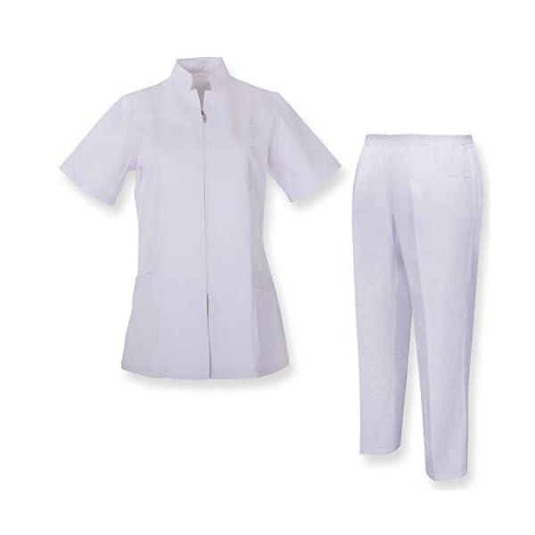 MISEMIYA Camisa Y Pantalón Mujer Túnica de enfermería 1