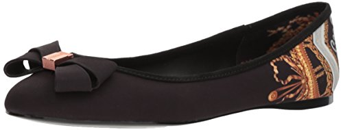 Ted Baker Women's Immet Ballet Shoe, Black Versailles Textile, 6.5 B(M) US by Ted Baker