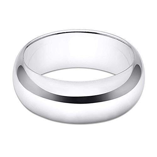 8mm Band Sterling Silver Ring - 7