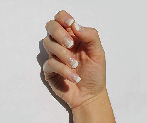 White & Nude Ava Nail Wraps by Nail Wraps