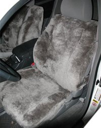 Newport West Sheepskin Seat Covers Low Back Bucket Seats Synthetic Backed One Pair (2 Covers)