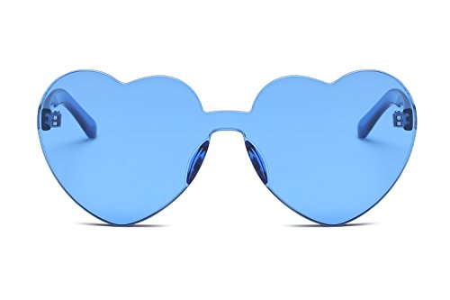 Corazón YANJING Unidos los Siameses de Corazón Estados Mujeres Europa Trend Gafas Gafas Forma Color 6 de Love Jelly Sol 7 Color de en y Gafas Sol HIwqrEW7H