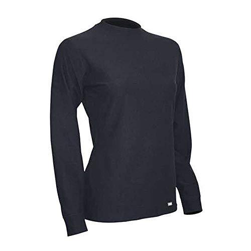 Polarmax Long Underwear - Polarmax Quattro Fleece Womens Long Underwear Top - Medium/Black