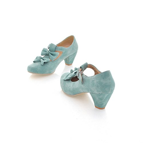 Lolita Shoes - MFairy Woman's Low Heel Vintage Lolita Shoes Cute Bowknot Mary Jane Shoes