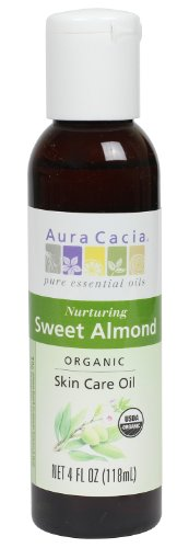 Aura Cacia Organic Skin Care Oil, Nurturing Sweet Almond, 4 Fluid Ounce