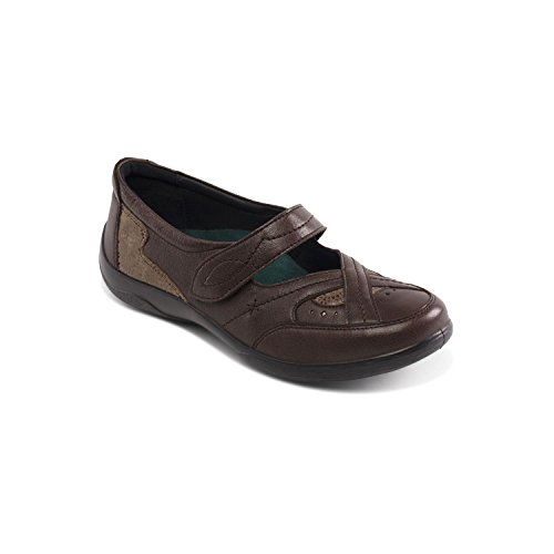 Padders 'Cello' Fit shoehorn UK Footcare Leather Shoe EEE System Dual Wide Free Fit EE Brown Extra Women's tqZHrn1Xt