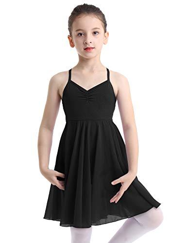 d7d381b5c40b Alvivi Girls' Empire Waist Camisole Gymnastics Leotard with Chiffon Skirt  Ballet Dance Dress Costumes