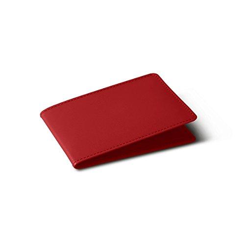 Per Tessere 4 Lucrin Carte Rosso Porta Liscia Pelle aCq6q4x