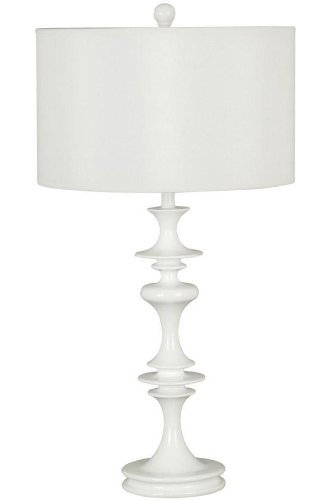 Kenroy Home 21033WH Claiborne Table Lamp, Gloss White