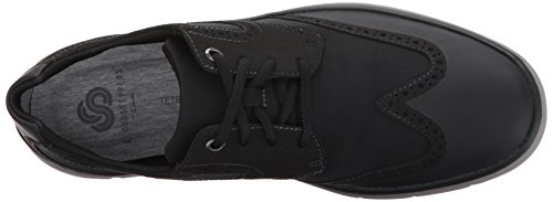 CLARKS Mens Tunsil Wing Oxford, Black, 10 M US