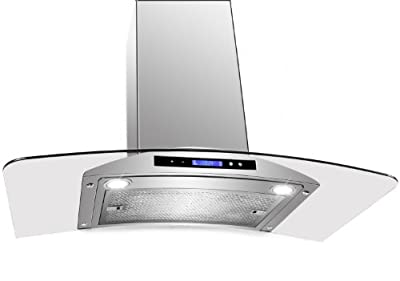 "AKDY New 30"" European Style Wall Mount Stainless Steel Range Hood Vent Touch Control AZ-198KN 30"""