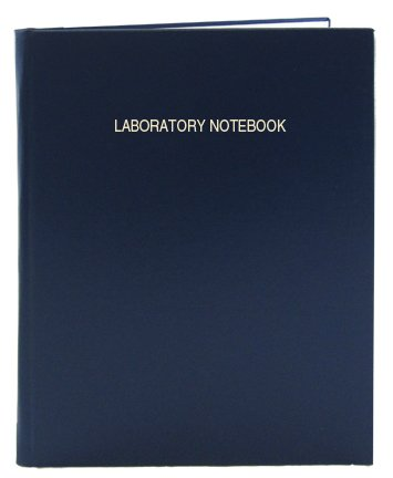 BookFactory Lab Notebook - 312 Pages (.25'' Grid Format) 8'' x 10'' Blue Cover Smyth Sewn Hardbound Laboratory Notebook (LIRPE-312-SGR-A-LBT1) by BookFactory