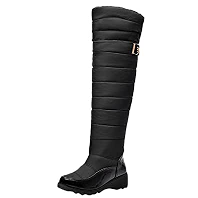 Amazon.com | Agodor Womens Knee High Warm Snow Boots Low