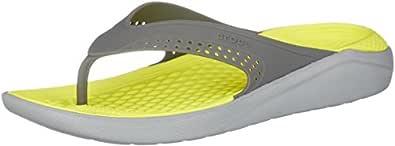 Crocs Unisex Adults LiteRide Flip, Slate Grey/Light Grey, M7W9