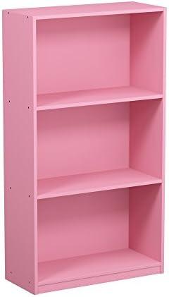 Furinno 99736PI Bookcase Storage Shelves