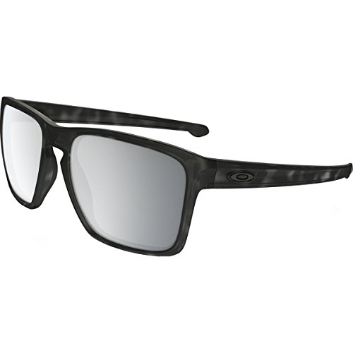Oakley Mens Sliver XL Asian Fit Polarized Sunglasses, Matte Black Tortoise/Chrome Iridium, One - Square Mens Sunglasses