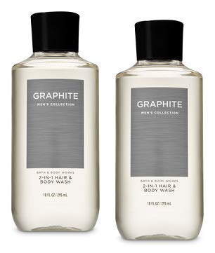 Bath and Body Works 2 Pack Graphite 2-in-1 Hair + Body Wash 10 ()