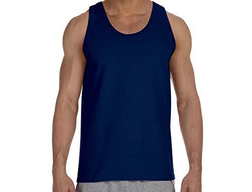 Gildan Ultra Cotton Tank Top Shirt - Navy Blue, 2XL