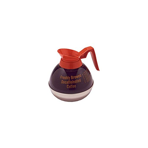 Bloomfield Orange Decanter - Bloomfield DCF8889O24 Decaf Unbreakable Decanter, Plastic with Stainless Steel Bottom, Orange Handle (Pack of 24)