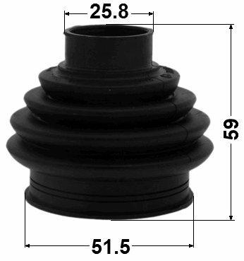51,5X59X25,8 1K0598203 // 1K0598203 Kit For VW Volkswagon Inner Cv Joint Boot