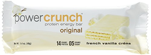 Power Crunch French Vanilla Creme 12 bars. 1.4 Ounce 12 Count