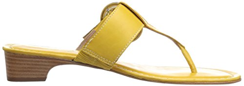 Wedge Yellow Women's Grace Calf Golden Sandal Antique Bernardo XEd6qwZ6