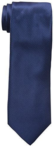 Haggar Men's Herringbone Washable Tie, Navy, One Size