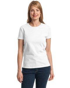 Gildan Ladies Ultra Cotton 100% Cotton T-Shirt-L (White)