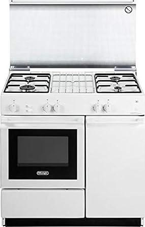 Cocina de gas con horno de gas, 4 fuegos, 86 x 50 cm, color blanco, SGGW 854 N ED línea Smart