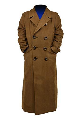 Star Flower Children Boys Brown Long Trench Coat (Brown, -