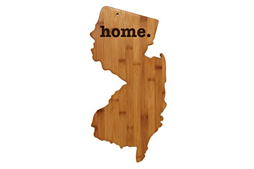 New Jersey Shaped Bamboo Wood Cutting Board Engraved home. Personalized For New Family Home Housewarming Wedding Moving Gift