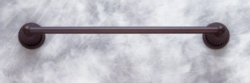 JVJHardware 27830 Renaissance 30 in. Fluted Towel Bar Set Concealed Screw - Old World Bronze