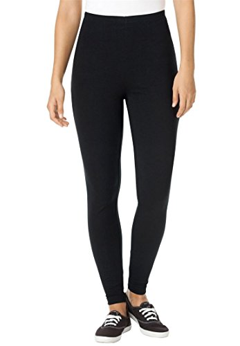 Women's Plus Size Tall Leggings In Stretch Knit Black,2X