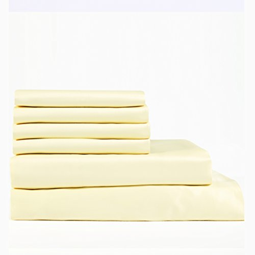 Cambay Linens 400 Thread Count Cotton Sateen Queen Sheet Set, Gold (Set of 6) (Minecraft Sheets For Double Bed)