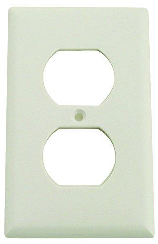 1g Std Wht Duplex Recpt Plate ()