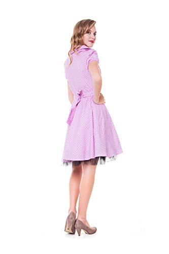 Vestito rosa punkte kleine Donna Alpenmärchen AF181
