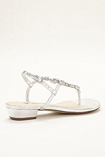 81612854c40c Touch of Nina Multi Stone T-strap Metallic Sandals Style - Import It All