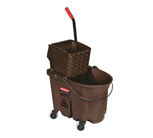 Alimed Wavebrake Mopping Bucket / Wringer System,Trolley, Side Press, 35qt, Yellow