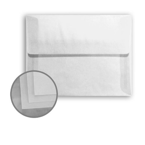 Glama Natural Clear Envelopes - A2 (4 3/8 x 5 3/4) 29 lb Bond Translucent Vellum 250 per Box