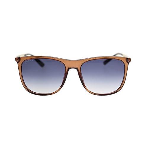 698500736860b8 high-quality Gucci Men's Sunglasses GG1129 VKG Brown Gold/Dark Blue  Gradient Lens Rectangular 56mm
