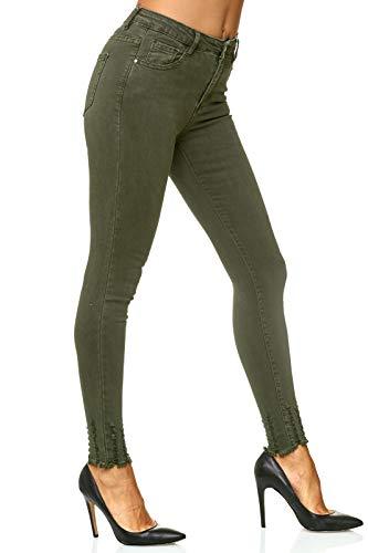 Pantalon Stretch Taille Skinny Dk Fit Jeans Chunkyrayan green Slim Elara Femme Collant Crayon Haute d04tcq