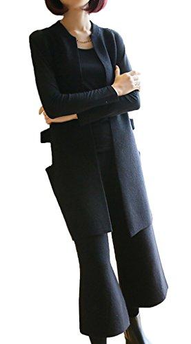Genou Noir Ensemble Casual Cardigan Ru Sans Droit Au Lâche Manches Xiang Pantalon qw4PBIB