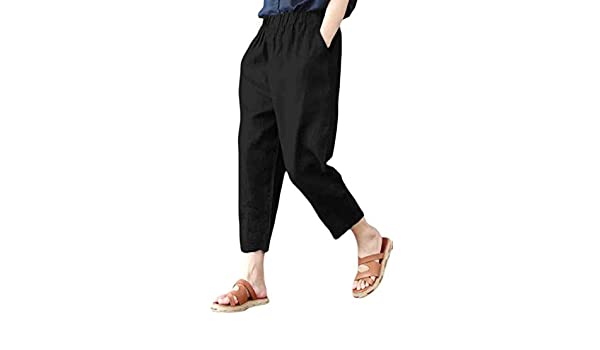 Mfasica Mens Comfort Casual Tenths Pants Plus Size Outwear Harem Pants