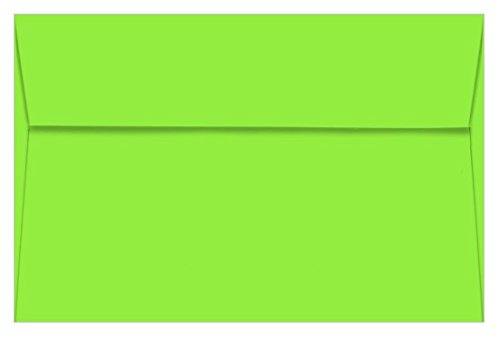 A9 Astrobright Martian Green Envelopes - Straight Flap, 60T, 1000 Pack
