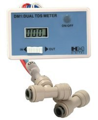 HM Digital DM-1 In-Line Dual TDS Monitor, 0-9990 ppm Range, 2% Readout Accuracy