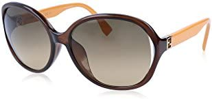 Fendi Brown Ochre Double Shaded Asia Fit Sunglasses