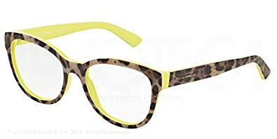 a11f9d048edb Image Unavailable. Image not available for. Color  Dolce   Gabbana  Enchanted Beauties Eyeglasses DG3209 2861 Top Leo On Yellow 53 ...
